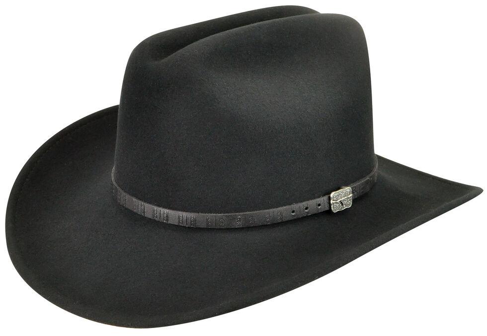 Wind River by Bailey Men's Wistar Black Felt Hat, Black, hi-res