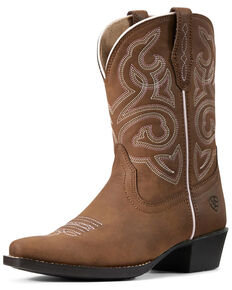 Ariat Youth Girls' Spice Nutmeg Western Boots - Snip Toe, Brown, hi-res