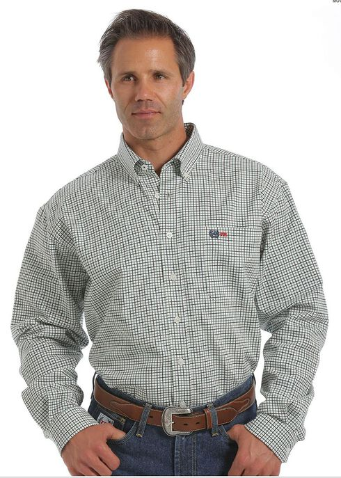 Cinch WRX Flame-Resistant Windowpane Plaid Shirt, , hi-res