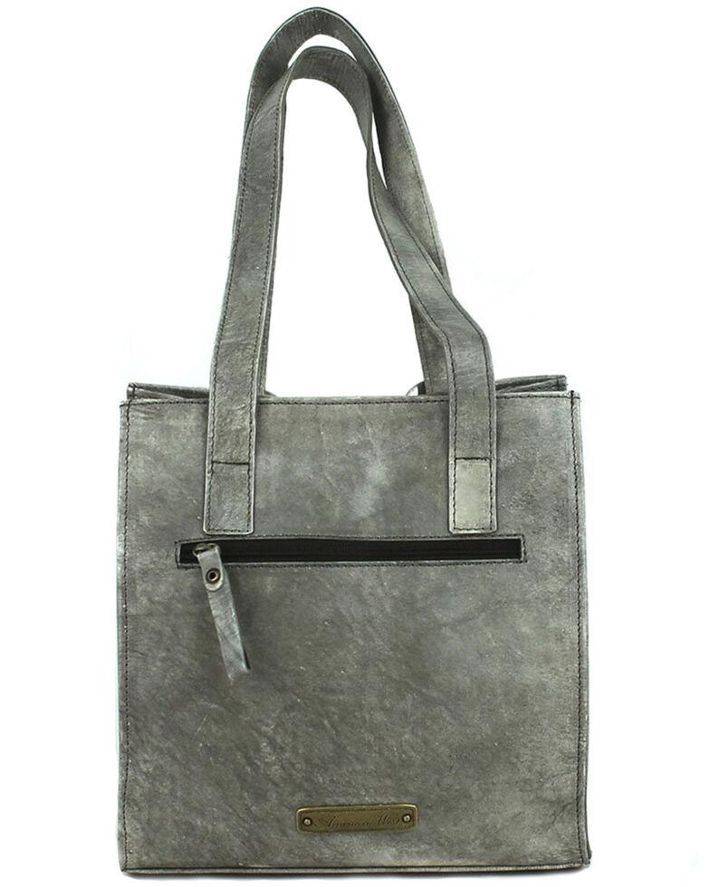 American West Women's Heritage Tooled Tote Bag, Grey, hi-res