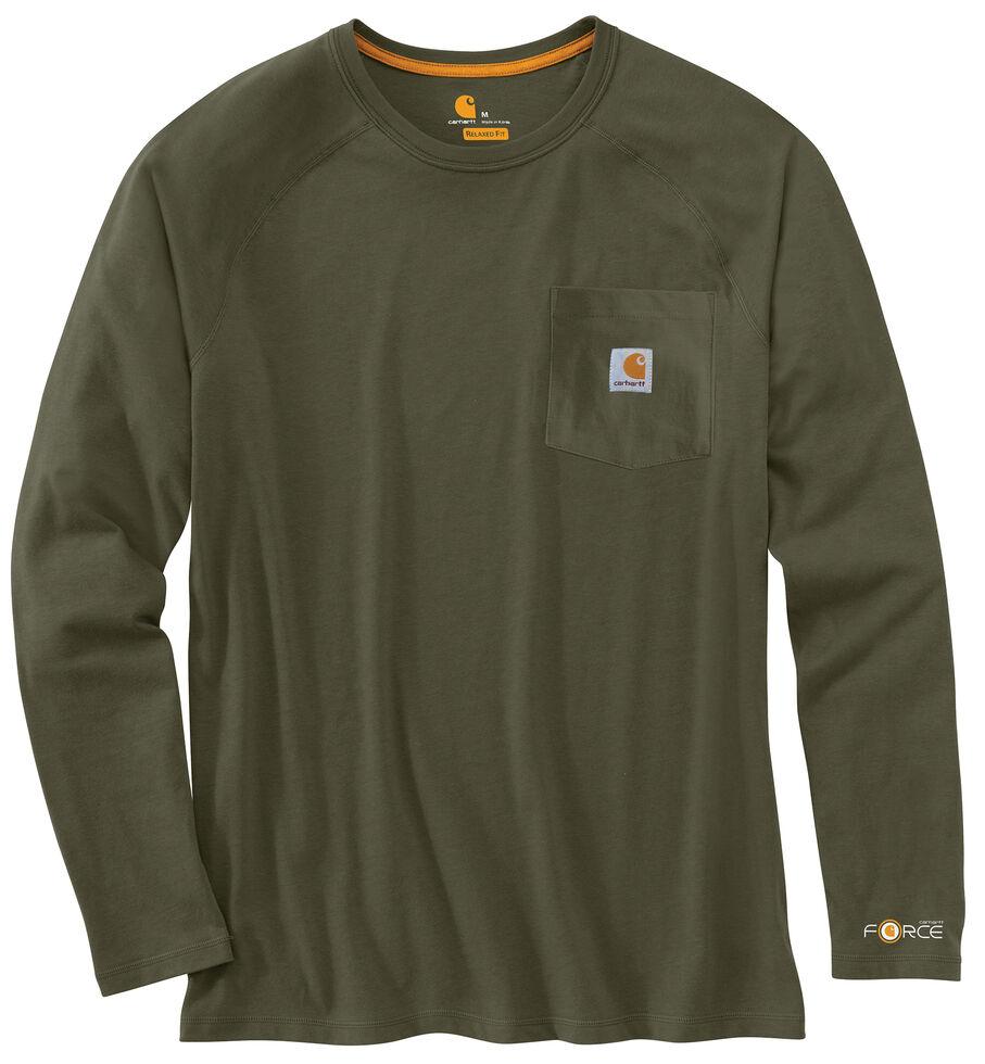 Carhartt Force Long Sleeve Work Shirt - Big & Tall, Moss, hi-res
