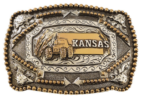 Cody James Kansas Belt Buckle, Multi, hi-res