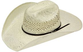Twister Weave Maverick Straw Cowboy Hat, Natural, hi-res