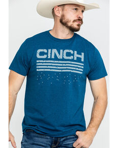 Cinch Men's Teal Logo Graphic T-Shirt , Teal, hi-res