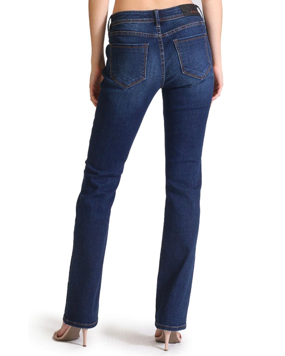 Grace in LA Women's Basic Easy Boot Cut Jeans, Indigo, hi-res
