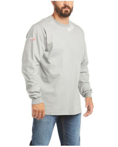Ariat Men's FR Silver Fox Wrench Graphic Long Sleeve Work Shirt , Silver, hi-res