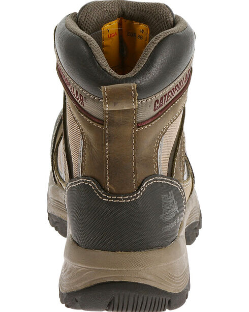 "Caterpillar Women's Taupe Shaman 6"" Waterproof Work Boots - Composite Toe , Taupe, hi-res"