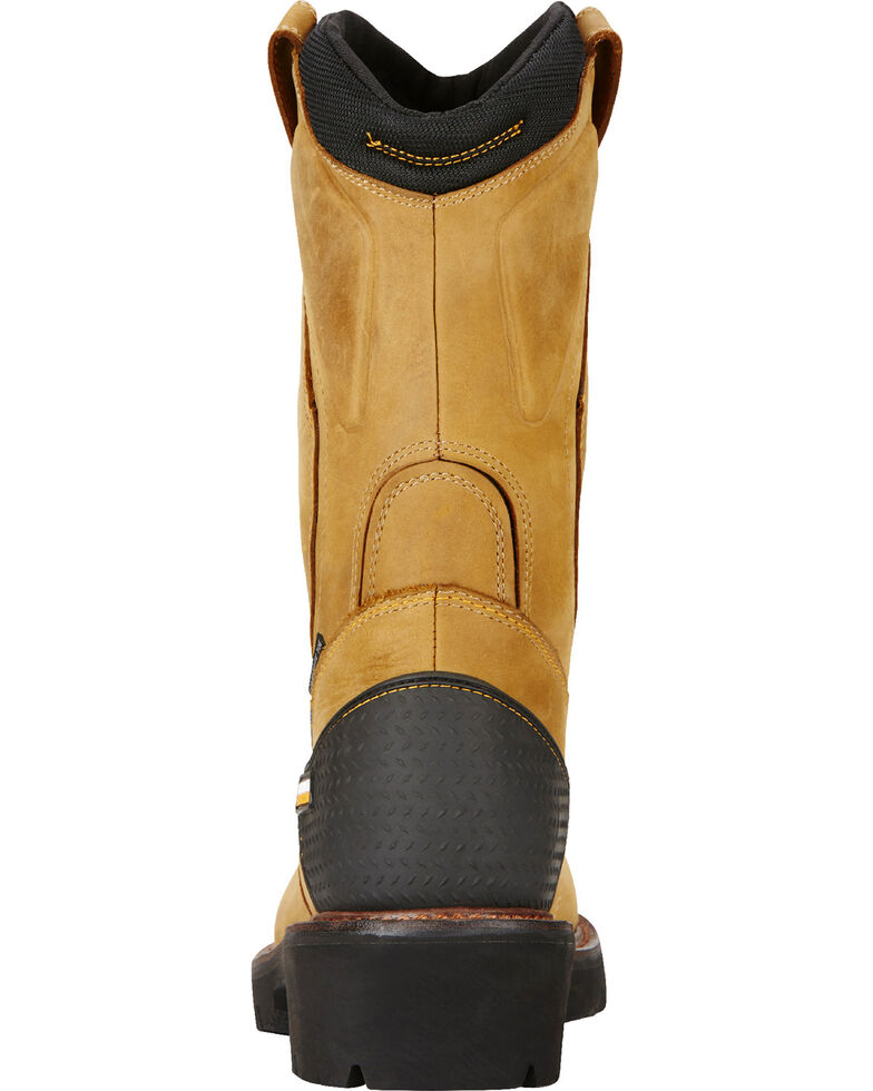 Ariat Men's Aged Bark Powerline H20 Pull-On Work Boots - Composite Toe, Bark, hi-res