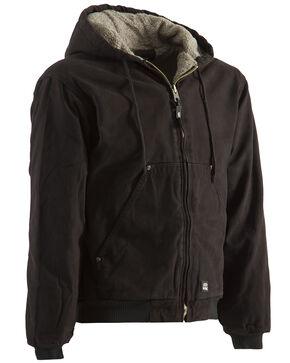 Berne High Country Hooded Jacket - Sherpa Lined, Dark Brown, hi-res