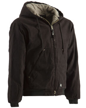 Berne High Country Hooded Jacket - Sherpa Lined - Tall Sizes, Dark Brown, hi-res