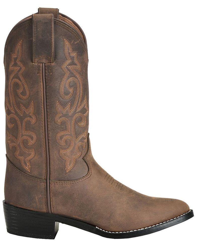 Justin Boys' Basic Western Boots - Medium Toe, Bay Apache, hi-res
