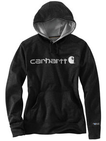 Carhartt Extremes® Women's Force Signature Graphic Hooded Sweatshirt, Charcoal, hi-res