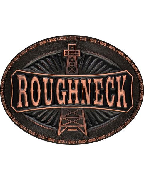 Montana Silversmiths Men's Copper-Tone Roughneck Marquee Attitude Buckle, Copper, hi-res