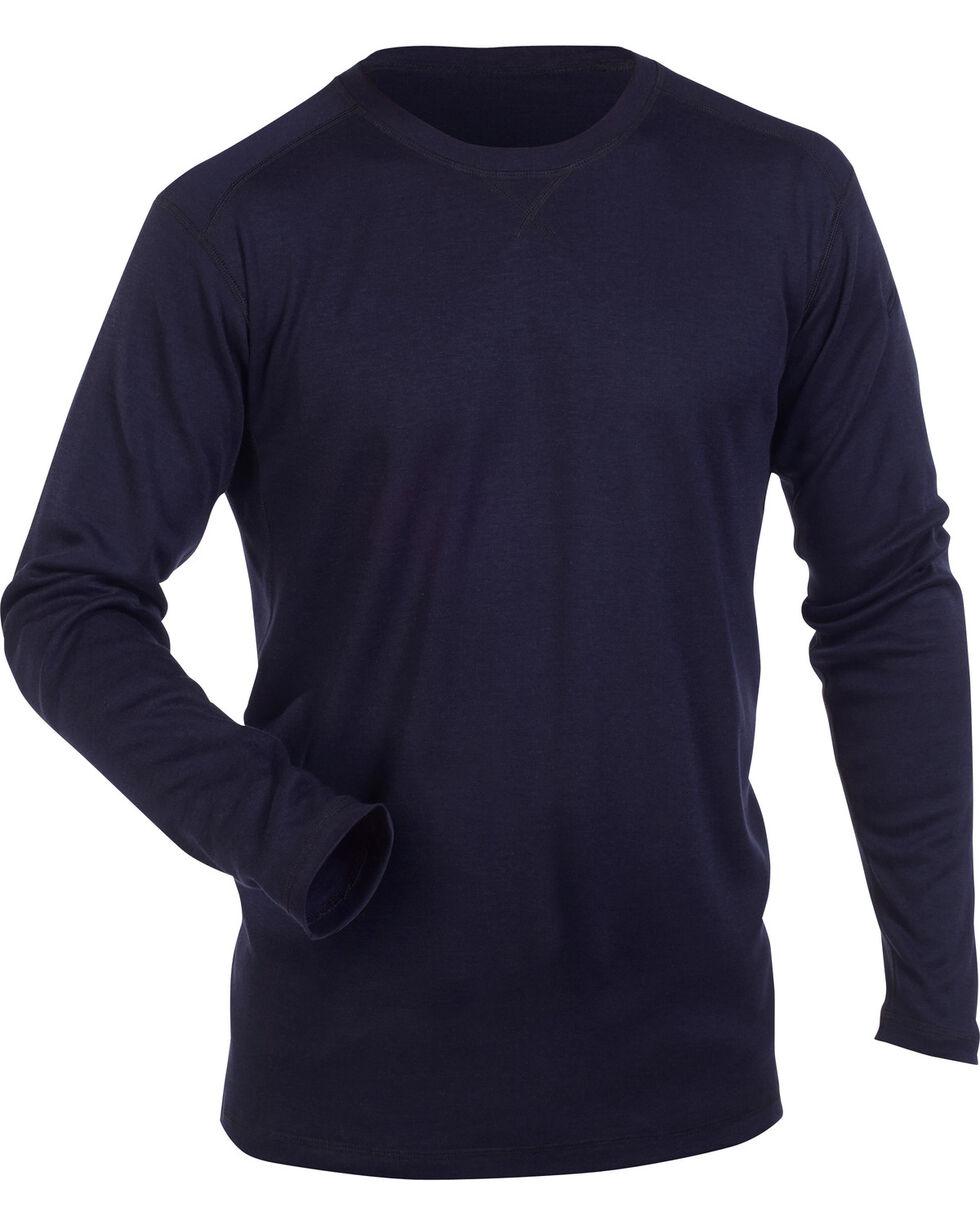 5.11 Tactical FR Polartec Crew Long Sleeve Shirt, Navy, hi-res