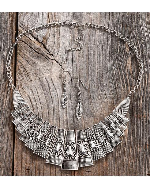 Shyanne Women's Geometric Lattice Jewelry Set, Silver, hi-res