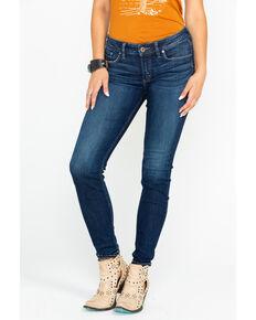 Silver Women's Suki Mid-Rise Curvy Skinny Jeans , Indigo, hi-res
