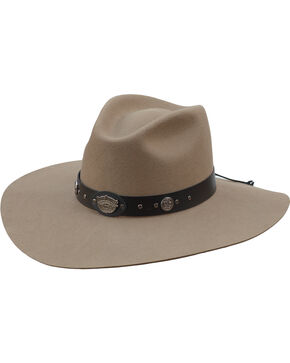 Jack Daniel's Silverbelly Crushable Wool Felt Western Hat, Silver Belly, hi-res
