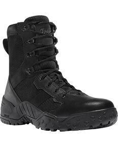 "Danner Men's Black Scorch Side-Zip 8"" Tactical Boots - Round Toe , Black, hi-res"