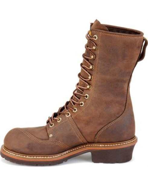 Carolina Men's Brown Waterproof Linesman Workboots - Composite Toe, Brown, hi-res