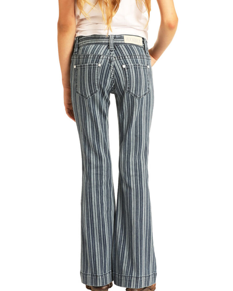 Rock & Roll Denim Girls' Stripe Trousers, Multi, hi-res