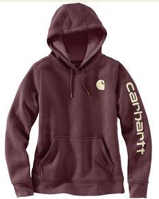 Carhartt Women's Clarksburg Graphic Sleeve Pullover Sweatshirt, Medium Brown, hi-res