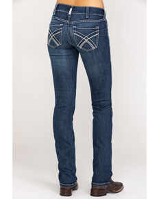 Ariat Women's Dark R.E.A.L. Stackable Straight Kylie Jeans, Blue, hi-res