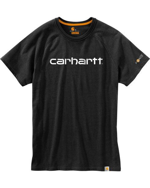 Carhartt Force Men's Cotton Delmont Graphic Short Sleeve Shirt - Big , Black, hi-res