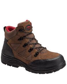Avenger Men's Grid Work Boots - Steel Toe, Brown, hi-res