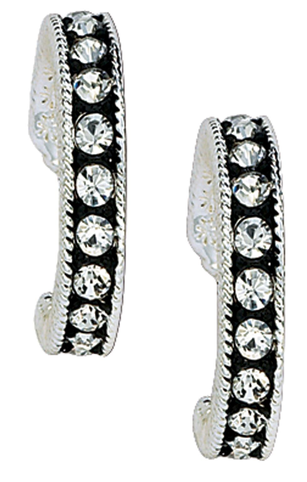 Montana Silversmiths Cubic Zirconia Hoop Earrings, Silver, hi-res