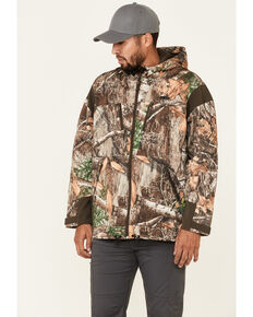 Wrangler ATG Men's All-Terrain Camo Zip-Front Hooded Softshell Jacket, Camouflage, hi-res