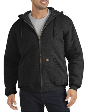 Dickies Heavyweight Quilted Fleece Zip-Up Hoodie, Black, hi-res