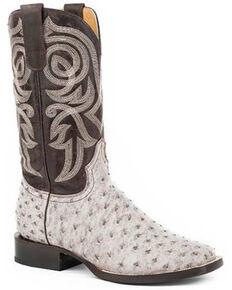 Roper Women's White Brushoff Western Boots - Round Toe, Brown, hi-res