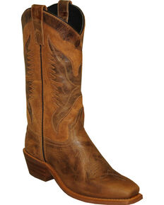 "Sage by Abilene Men's 12"" Eagle Underlay Western Boots - Square Toe, Brown, hi-res"