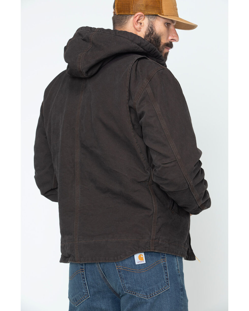 Carhartt Sierra Sherpa Lined Work Jacket, Brown, hi-res