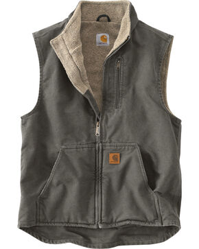 Carhartt Sherpa Lined Work Vest, Grey, hi-res