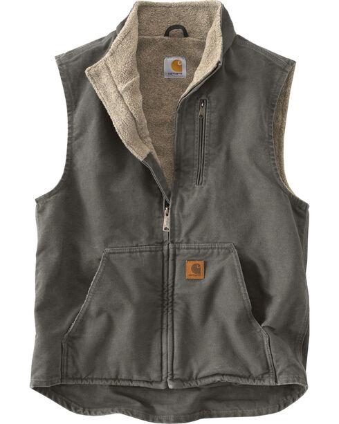 Carhartt Sherpa Lined Work Vest, Grey, hi-res