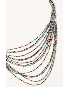 Shyanne Women's Multi Strand Beaded Necklace, Silver, hi-res