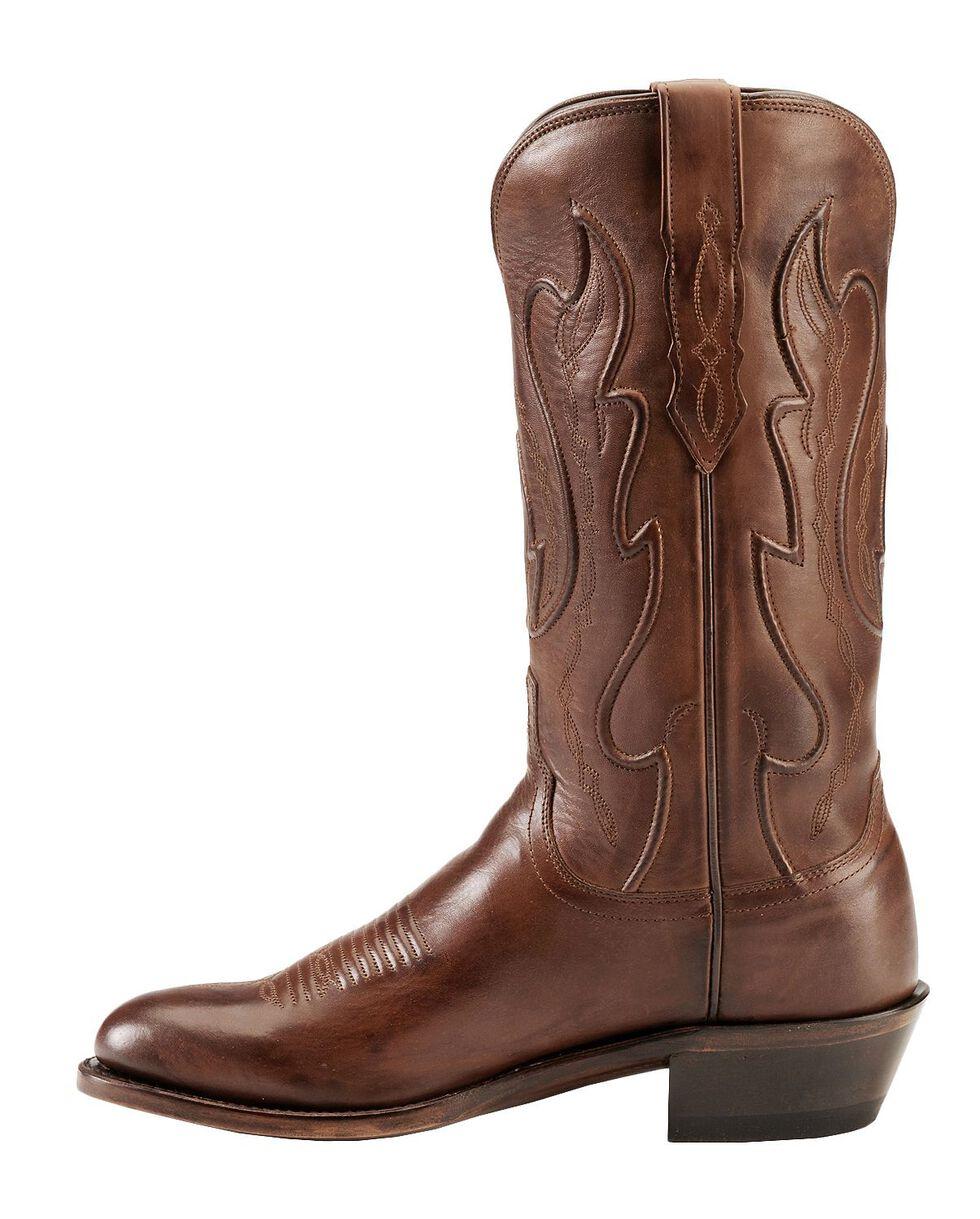 Lucchese Handmade 1883 Cole Ranch Hand Cowboy Boots -  Medium Toe, Tan Burnish, hi-res