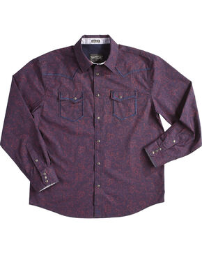 Moonshine Spirit Men's Burgundy Gunfight Long Sleeve Shirt , Burgundy, hi-res