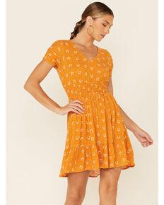 Idyllwind Women's Gold Lucky Street Dress, Gold, hi-res