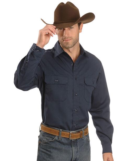 Carhartt Twill Button Work Shirt, Navy, hi-res