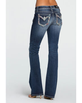 Miss Me Women's Indigo City Limits Mid-Rise Jeans - Boot Cut , Indigo, hi-res