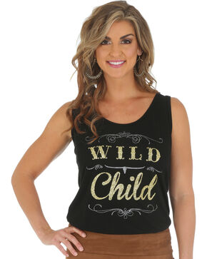 Wrangler Rock 47 Women's Wild Child Tank Top, Black, hi-res