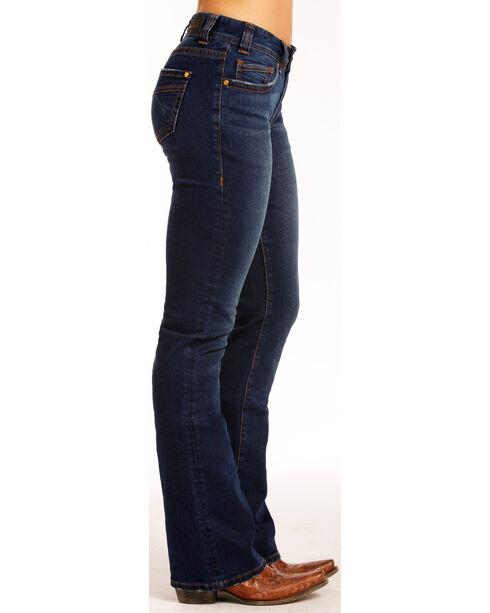 Rock & Roll Cowgirl Women's Indigo Dark Wash Jeans - Boot Cut , Indigo, hi-res