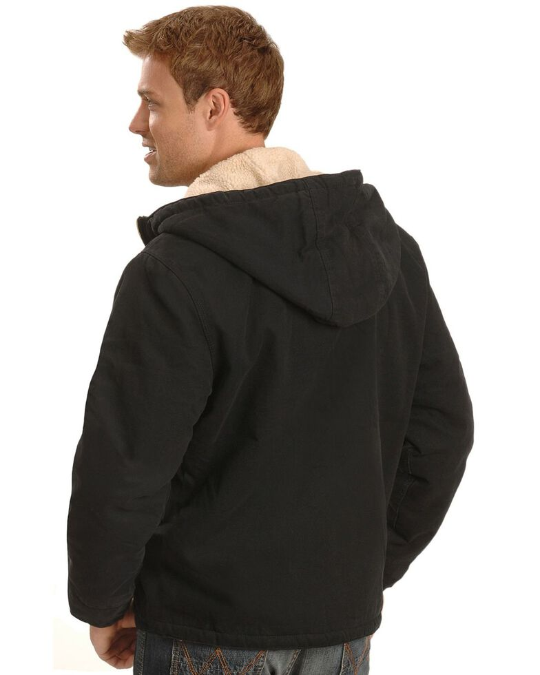 Dickies Hooded Sherpa Lined Work Jacket, Black, hi-res