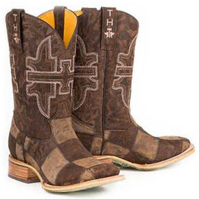 Tin Haul Million Dollar Mullet Cowboy Boots - Square Toe, Brown, hi-res