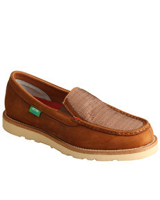 Twisted X Men's Slip-On Shoes - Moc Toe, Coffee, hi-res