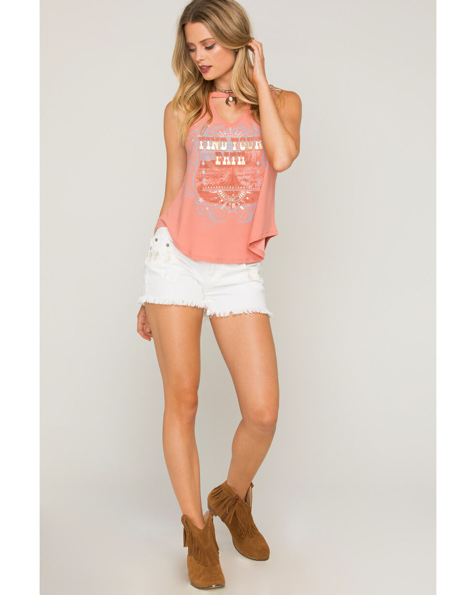 "Shyanne Women's ""Find Your Path"" Cutout Tank Top, Blush, hi-res"
