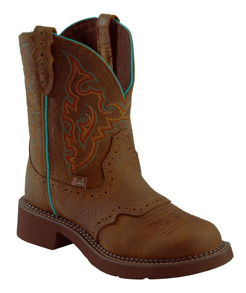 Justin Gypsy Barnwood Brown Cowgirl Boots - Round Toe, Brown, hi-res