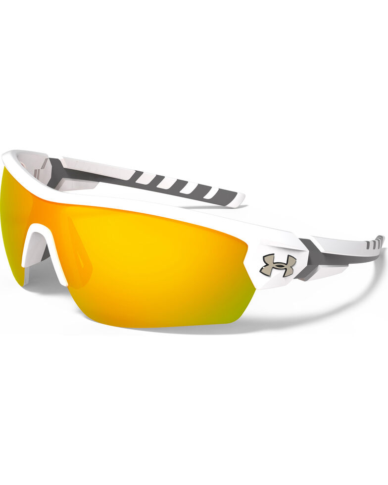 773a871a79 Under Armour Rival Satin White and Orange Lens Sunglasses